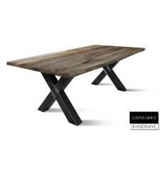 Table à manger en chêne massif CASTLE-LINE 2-2, 200 cm