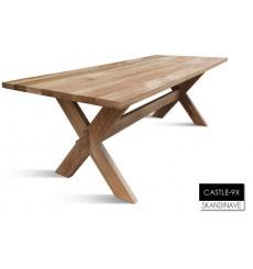 Table à manger en chêne massif CASTLE-9X 180 cm