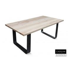 Table à manger en chêne massif CASTLE-99 180 cm