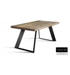 Table à manger en chêne massif CASTLE-100, 220 cm