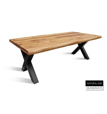 Table à manger en chêne massif Natural-X60