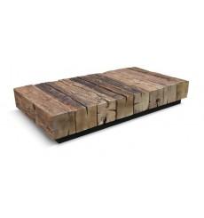 Table basse en chêne massif KIFT-OLD 160 cm