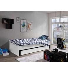 Lit avec rangement NATALIA blanc 90x200 cm
