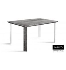 Table à manger en chêne massif KASAKO 4, 140 cm