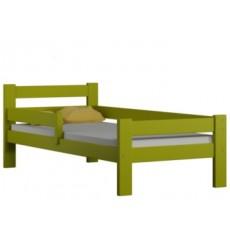 Lit simple en bois Dayane vert 80x160
