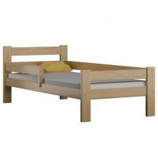 Lit simple en bois Dayane chêne 80x160