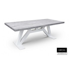 Table à manger en chêne massif GROG 3, 220 cm