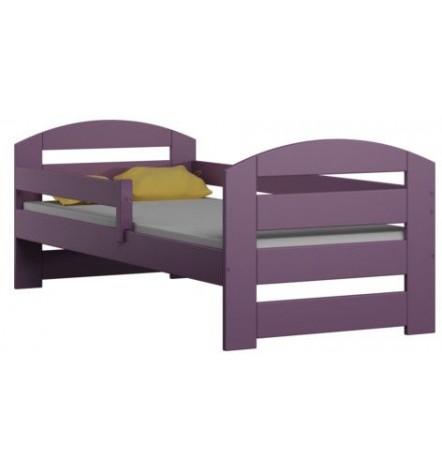 Lit simple en bois violet Camille 80x180 cm