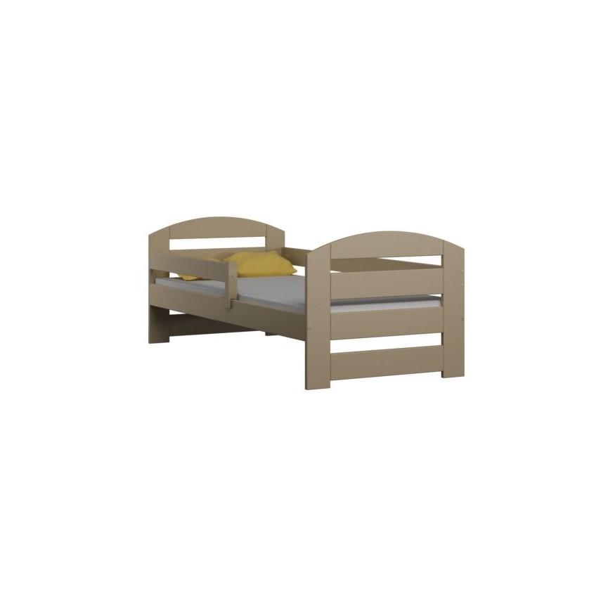 Lit simple en bois Camille beige 80x180 cm