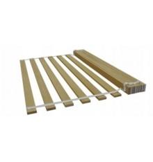 Lit simple en bois Camille blanc 80x180 cm