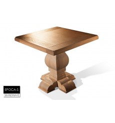 Table en chêne massif EPOCA-S, 80 cm