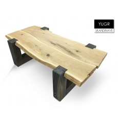 Table basse en chêne massif YUGR