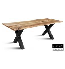 Table à manger en chêne massif  URBAN-IQ 5, 220 cm