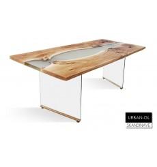 Table à manger en chêne massif URBAN-GL, 205 cm
