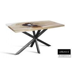 Table à manger en chêne massif URBAN-E, 140 cm