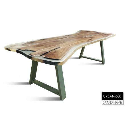 Table à manger en chêne massif URBAN-600