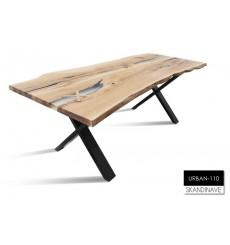 Table à manger en chêne massif URBAN-110, 220 cm