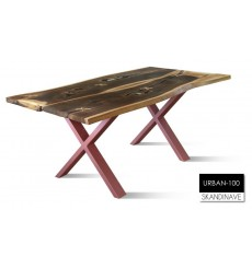Table à manger en chêne massif URBAN-100-2, 180 cm