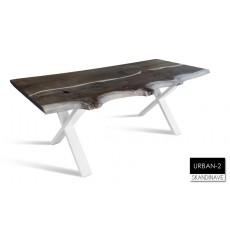 Table à manger en chêne massif URBAN-2-3, 180 cm