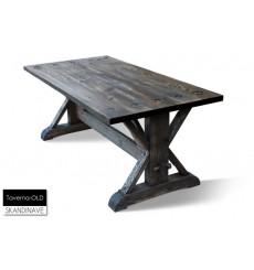 Table à manger en chêne massif TAVERNA-OLD 120 cm