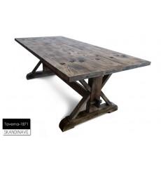 Table à manger en chêne massif TAVERNA-1871, 180 cm