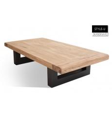 Table basse en chêne massif STYLE-U 120 cm