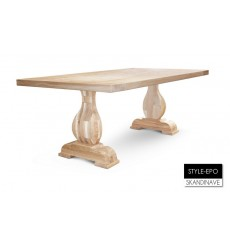 Table à manger en chêne massif STYLE-EPO 180 cm