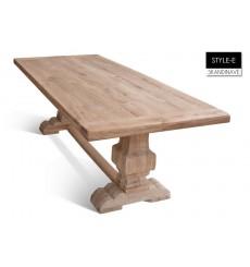 Table à manger en chêne massif STYLE-E 200 cm