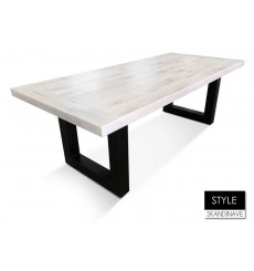 Table à manger en chêne massif STYLE 220 cm