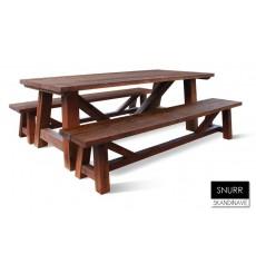 Table à manger en chêne massif SNURR-2, 220 cm
