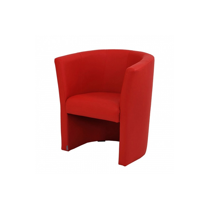 Fauteuil cabriolet Roma rouge