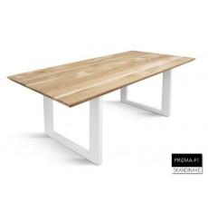 Table à manger en chêne massif PRIZMA-F1-2, 200 cm