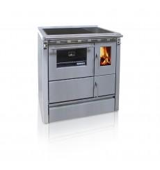 Cuisinière à bois 7,5 kW la Jeannine 90 cm EN INOX