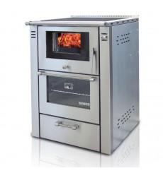 Cuisinière à bois 9 kW la Francine  60 cm EN INOX