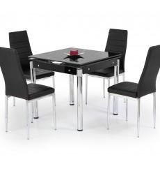 Table extensible KENT noir 80-130/80/76 cm