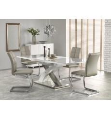 Table extensible SANDOR_2 gris-blanc 160-220/90/75 cm