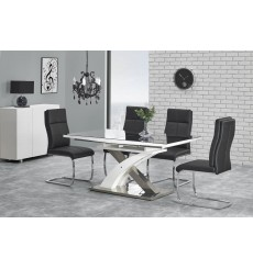 Table extensible SANDOR_2 noir 160-220/90/75 cm