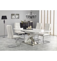 Table extensible SANDOR_2 blanc 160-220/90/75 cm