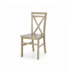 Lot de 2 chaises en bois massif DARIUSZ_2 chêne
