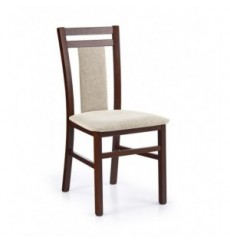 Lot de 2 chaises en bois massif HUBERT8 noyer