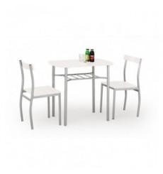Salle à manger LANCE blanc + 2 chaises