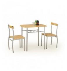 Salle à manger LANCE aulne + 2 chaises